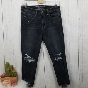 American eagle dark wash hi-rise jegging crop 12